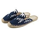 halpa Naisten sandaalit-Naisten Kengät Pellava Kevät Comfort Puukengät Tasapohja Beesi / Tumman sininen
