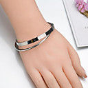 cheap Bracelets-Women's Bangles - Stainless Simple, Fashion Bracelet Silver For Gift / Daily