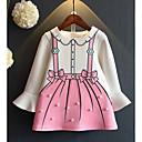 tanie Topy dla niemowląt-Dziecko Dla dziewczynek Podstawowy Geometryczny Długi rękaw Bawełna Sukienka / Brzdąc