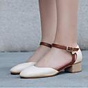 ieftine Mocasini de Damă-Pentru femei Pantofi PU Vară Confortabili Tocuri Toc Îndesat Negru / Bej