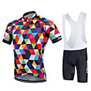 cheap Cycling Jersey & Shorts / Pants Sets-21Grams Men's / Women's Short Sleeve Cycling Jersey with Bib Shorts - Rainbow Bike Bib Shorts / Jersey / Bib Tights, Quick Dry, Breathable, Sweat-wicking Polyester, Lycra / Stretchy / Clothing Suit
