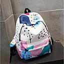 זול תיקי גב-בגדי ריקוד נשים שקיות בַּד תיק לבית הספר דוגמא \ הדפס פול / לבן