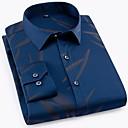 cheap Men's Oxfords-Men's Basic Shirt - Geometric Print / Long Sleeve
