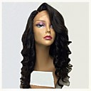 cheap Human Hair Wigs-Remy Human Hair Lace Front Wig Brazilian Hair Wavy Wig Layered Haircut 130% Hair Density Natural Hairline For Black Women Black Women's Long Human Hair Lace Wig Aili Young Hair