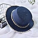 זול הד פיס למסיבות-קיץ בז' כחול נייבי חאקי כובע קש קולור בלוק קש בסיסי חג בגדי ריקוד נשים