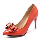 ieftine Tocuri de Damă-Pentru femei Pantofi PU Primavara vara Balerini Basic Tocuri Toc Stilat Vârf ascuțit Funde Portocaliu / Bej / Rosu / Party & Seară