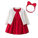 ieftine Set Îmbrăcăminte Bebeluși-Bebelus Fete Mată Fără manșon Set Îmbrăcăminte