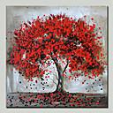 billige Menneske Malerier-Hang-Painted Oliemaleri Hånd malede - Landskab / Blomstret / Botanisk Moderne Lærred