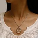 cheap Men's Bracelets-Women's Single Strand Statement Necklace - Wave European Silver 41+6 cm Necklace 1pc For Daily