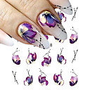 cheap Nail Stickers-5 pcs Stickers nail art Manicure Pedicure Colorful Nail Decals Daily Wear / Festival