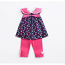 ieftine Set Îmbrăcăminte Bebeluși-Bebelus Fete Activ Floral Manșon scurt Set Îmbrăcăminte / Copil