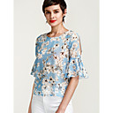 cheap Bath Accessories-Women's Going out Cute Street chic Loose Blouse - Floral, Basic