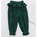 tanie Spodnie dla niemowląt-Dziecko Dla dziewczynek Moda miejska Jendolity kolor Bawełna Spodnie / Brzdąc