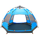 cheap Tents, Canopies & Shelters-TANXIANZHE® 8 person Screen Tent Double Layered Automatic Dome Camping Tent Outdoor Waterproof, Rain-Proof, Moistureproof for Hiking / Camping / Traveling 1500-2000 mm Mesh, PU(Polyurethane)