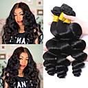 povoljno Perike s ljudskom kosom-3 paketa Indijska kosa Wavy Ljudska kosa Ljudske kose plete Ekstenzije od ljudske kose 8-28 inch Prirodna boja Isprepliće ljudske kose Najbolja kvaliteta Rasprodaja Za crnkinje Proširenja ljudske kose