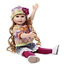 preiswerte Puppen-NPKCOLLECTION Modepuppe Mädchen vom Lande 18 Zoll Ganzkörper Silikon Vinyl - Geschenk Handgefertigt Künstliche Implantation Braune Augen Kinder Mädchen Spielzeuge Geschenk