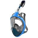 billige Dykkermasker, snorkler og finner-Dykning Masker Anti-Tåge, Helmaske, 180 grader Enkelt Vindue - Snorkling til Voksen Gul / Rosa / Blå