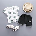 ieftine Set Îmbrăcăminte Băieți Bebeluși-Bebelus Băieți Activ Imprimeu Manșon scurt Bumbac Set Îmbrăcăminte / Copil