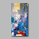 povoljno Slike za cvjetnim/biljnim motivima-Hang oslikana uljanim bojama Ručno oslikana - Sažetak Pejzaž Comtemporary Uključi Unutarnji okvir / Prošireni platno