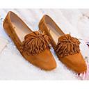 זול נעלי עקב לנשים-בגדי ריקוד נשים נעליים סוויד אביב נוחות נעליים ללא שרוכים עקב נמוך שחור / חום