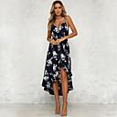 cheap Wedding Shoes-Women's Boho Chiffon / Swing Dress - Floral Print