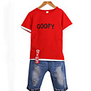 ieftine Seturi Îmbrăcăminte Băieți-Copii Băieți De Bază Imprimeu Imprimeu Manșon scurt Bumbac Set Îmbrăcăminte