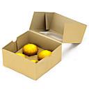 baratos Artigos de Forno-4 buracos de papel kraft marrom caixa de cupcake extra de espessura com inserção 1set