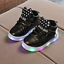 cheap Party Headpieces-Boys' / Girls' Shoes PU(Polyurethane) Spring / Fall Comfort / Light Up Shoes Boots Lace-up / Magic Tape / LED for Kids / Baby White / Black / Pink