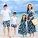ieftine Set Îmbrăcăminte De Familie-Familie Uite Bloc Culoare Fără manșon Set Îmbrăcăminte