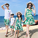 ieftine Set Îmbrăcăminte De Familie-Familie Uite De Bază Plajă Geometric Manșon scurt Rochie