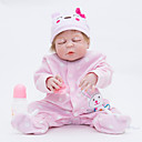 preiswerte Kuchenbackformen-FeelWind Lebensechte Puppe Baby Mädchen 22 Zoll Ganzkörper Silikon - Neugeborenes lebensecht Handgefertigt Kindersicherung Non Toxic Eltern-Kind-Interaktion Kinder Mädchen Spielzeuge Geschenk