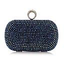 baratos Clutches & Bolsas de Noite-Mulheres Bolsas Poliéster Bolsa de Festa Detalhes em Cristal Floral Azul / Dourado / Prateado