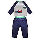 ieftine Set Îmbrăcăminte Băieți Bebeluși-Bebelus Băieți Activ Sport Imprimeu Manșon Lung Bumbac Set Îmbrăcăminte / Copil