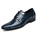 cheap Men's Oxfords-Men's Light Soles Nappa Leather / Faux Leather Fall British Oxfords Black / Blue