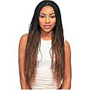 cheap Synthetic Capless Wigs-Synthetic Wig Women's Curly Braid Synthetic Hair Ombre Hair / Middle Part / Braided Wig Dark Brown Gold Blonde Ombre Wig Long Capless Black / Medium Auburn