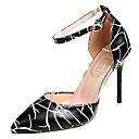 ieftine Mocasini de Damă-Pentru femei Pantofi PU Vară Balerini Basic Tocuri Toc Stilat Negru / Bej / Nuntă / Party & Seară