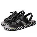 ieftine Pantofi Sport de Bărbați-Bărbați Piele Vară Confortabili Sandale Alb / Negru / Maro
