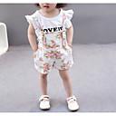 povoljno Haljinice za bebe-Dijete Djevojčice Aktivan Izlasci Cvjetni print Kratkih rukava Pamuk Komplet odjeće