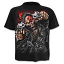 preiswerte Hundekleidung-Herrn Geometrisch / Totenkopf Motiv - Totenkopf / Aktiv T-shirt