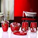 baratos Objetos de decoração-Jogo de Acessórios para Banheiro Criativo / Novo Design Modern Resina 5pçs - Banheiro Solteiro (L150 cm x C200 cm)