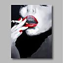 povoljno Apstraktno slikarstvo-Hang oslikana uljanim bojama Ručno oslikana - Ljudi Comtemporary Moderna Uključi Unutarnji okvir / Prošireni platno