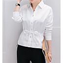 hesapli Moda Küpeler-Kadın's Pamuklu Gömlek Yaka Gömlek Solid