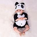 ieftine Păpuși-Păpuși Renăscute Bebe Băiețel 18 inch Silicon - Nou nascut natural Confecționat Manual Siguranță Copii Non Toxic Mâna înrădăcinată Mohair Lui Kid Băieți / Fete Jucarii Cadou