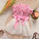 povoljno Dječja plesna oprema-Dijete Djevojčice Osnovni Geometrijski oblici Kratkih rukava Pamuk Haljina Blushing Pink / Dijete koje je tek prohodalo