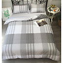 cheap Geometric Duvet Covers-Duvet Cover Sets Stripes / Ripples 100% Cotton Printed 4 Piece
