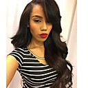 cheap One Pack Hair-Remy Human Hair Full Lace Wig Brazilian Hair Wavy Wig Layered Haircut 130% Natural Hairline / 100% Hand Tied / With Bangs Black Women's Short / Long / Mid Length Human Hair Lace Wig