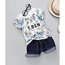 ieftine Set Îmbrăcăminte Bebeluși-Bebelus Unisex Geometric Manșon scurt Set Îmbrăcăminte