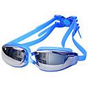 זול ילדים משקפיים-משקפי שחייה עמיד למים / נגד ערפל / אנטי-UV סגסוגת ציפוי / PC לבן / אדום / אפור