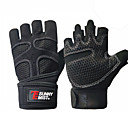 cheap Fitness Gear & Accessories-Exercise Gloves With Mesh Half Finger Anti-Slip, Breathable, Sweat Absorbent For Exercise & Fitness / Gym