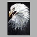 olcso Feszített vászonnyomat-Hang festett olajfestmény Kézzel festett - Absztrakt / Pop-művészet Modern Vászon